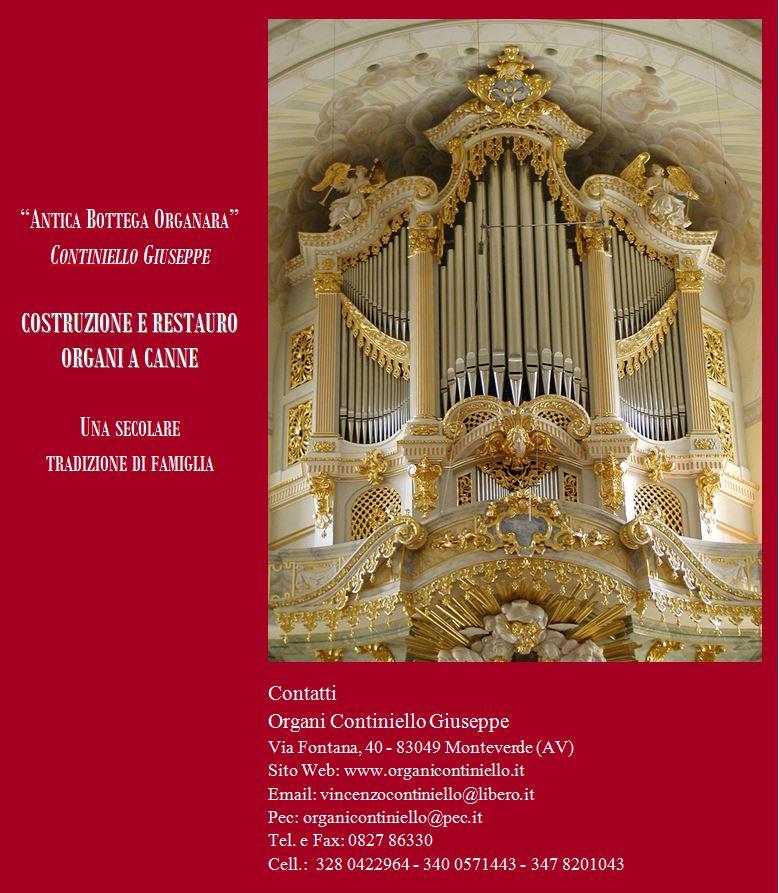 Brochure Organi Continiello